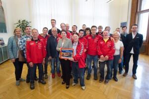 StRin Sonja Wehsely, Besuch WATT Handballverein (Menschen mit Down Syndrom)